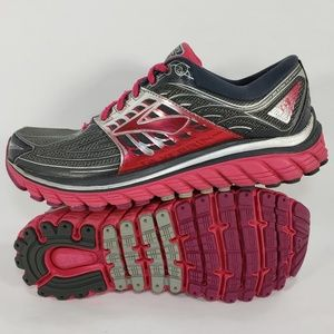 Brooks Glycerin 14 Running Shoes Pink Gray Silver
